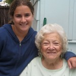 "MSS Alumna Seana and ""Granny"" Frannie reunited after 6 years! August, 2011"